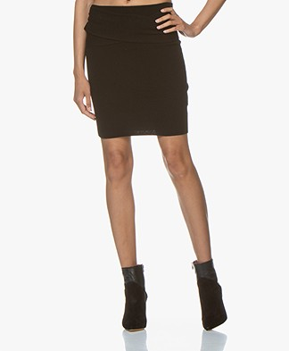 IRO Dunbar Knitted Mini Pencil Skirt - Black