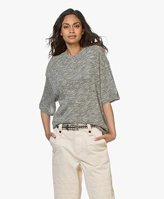 IRO Yuma Mouliné T-shirt - Grijs Mêlee