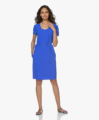 JapanTKY Rini Travel Jersey Dress with Cap Sleeves - Royal Blue