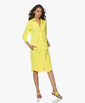 JapanTKY Zisa Travel Jersey Shirt Dress - Limone
