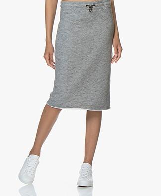 Rag & Bone French Terry Sweater Skirt - Grey Melange