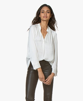 Zadig & Voltaire Tink Japanese Satin Blouse - White
