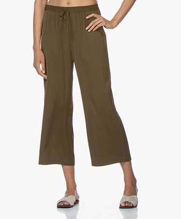 Filippa K Silk Pants - Hike Green