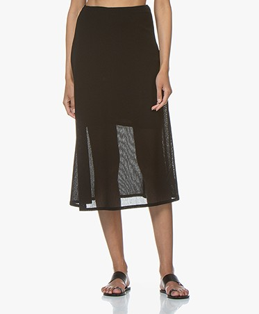 Filippa K Mesh Skirt - Black