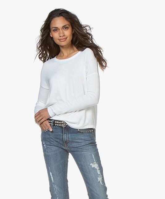a338fd1000c2 Rag & Bone Hudson Fine Knit Sweater - White - hudson l/s wht | w265c70c7