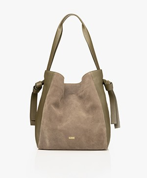 Closed Alyssa Leather Shoulder Bag - Deep Woods