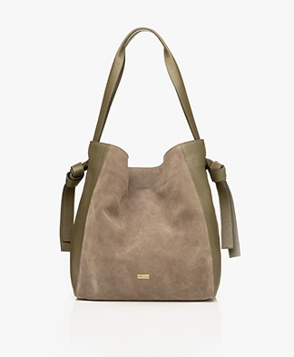 Closed Alyssa Leather Shoulder Bag - Deep Woods