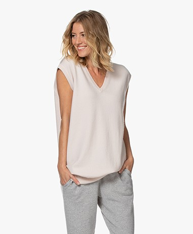 extreme cashmere N°144 Clic Cashmere Spencer - Talc
