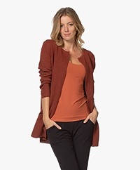 Sibin/Linnebjerg Mary Short Cardigan in Merino Blend - Rust