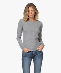 Repeat Cashmere Boat Neck Pullover - Light Grey