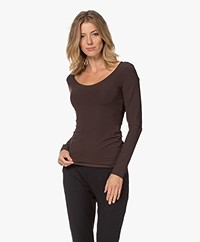 JapanTKY Tiyo Reversible Jersey Long Sleeve - Dark Brown