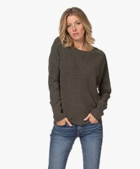 Repeat Knitted Wool and Cashmere Sweater - Khaki