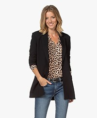 Repeat Jersey Boyfriend Blazer - Black
