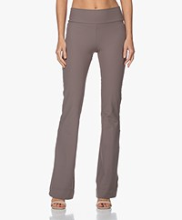 JapanTKY Naya Flared Travel Jersey Pants - Taupe