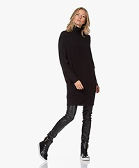 Majestic Filatures Turtleneck Dolman Sleeve Dress - Black