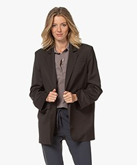 Les Coyotes de Paris Nanda Oversized Blazer - Dark Brown