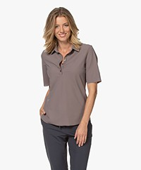JapanTKY Hyn Travel Jersey Polo T-shirt - Taupe