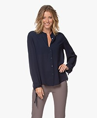 Filippa K Gia Blouse with Drawstring Cuffs - Dark Blue