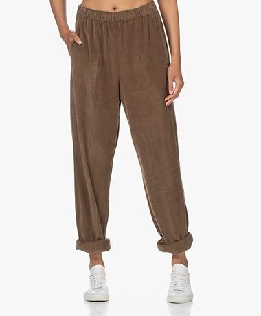 American Vintage Padow Loose-fit Corduroy Pants - Taupe