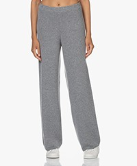 Closed Wool and Cashmere Pants - Grey Melange