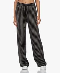 Closed Winona Striped Loose-fit Pants - Black