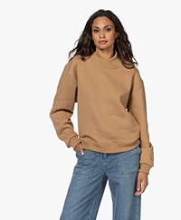 Róhe Harper Katoenmix Sweatshirt - Camel