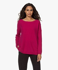Repeat Oversized Trui in Biologisch Cashmere - Orchid