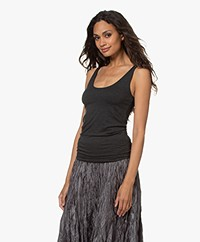 Majestic Filatures Abby Superwashed Tanktop - Antraciet Mêlee