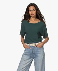 Plein Publique La Scott Short Sleeve Sweater - Emerald
