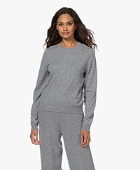 Closed Wool and Cashmere Round Neck Pullover - Grey Melange