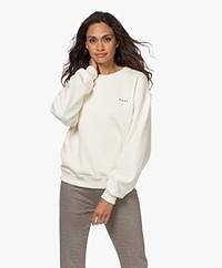 Róhe Ross Cotton Blend Logo Sweatshirt - Off-white