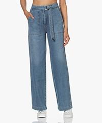 Róhe Lora Straight Cotton Jeans - Denim Blue