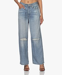 Rag & Bone Liquid Miramar Jeans Printed Loose-fit Pants - Dara