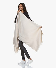 Alpaca Loca Handgemaakte Uni Sjaal in Alpaca - Beige