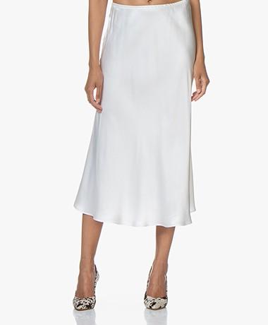 Resort Finest Frivo Satin Midi Skirt - Off-white