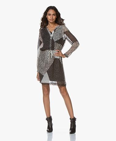 Josephine & Co Gonda Chiffon Printed Dress - Black