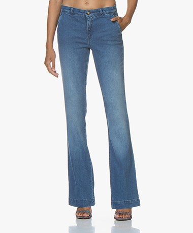by-bar Leila Long Flared Jeans - Light Denim