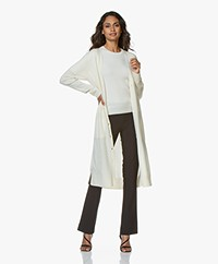 Repeat Luxury Long Pure Cashmere Cardigan - Cream
