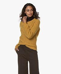 no man's land Sweater with Puff Sleeves - Ochre
