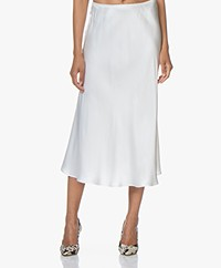 Resort Finest Frivo Satin Midi Skirt - Ecru