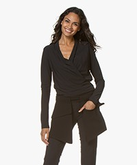 Woman by Earn Mo Belt with Flap Pockets - Black