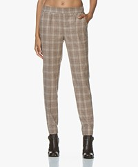 LaSalle Check Wool Blend Pants - Camel
