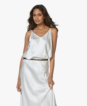 Resort Finest Satin Camisole Top - Off-white