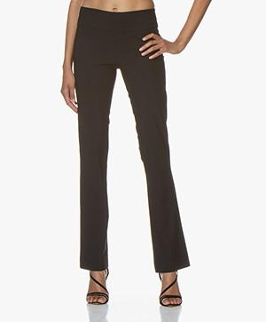 Woman by Earn Katja Flared Tech Jersey Broek - Zwart