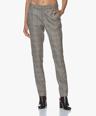 by-bar Sem Checkered Tapered Pants - Grey