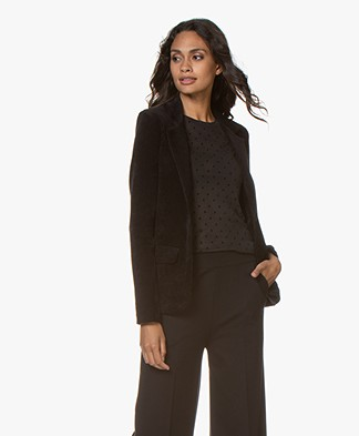Majestic Filatures Rib Jersey Blazer with Cashmere - Black