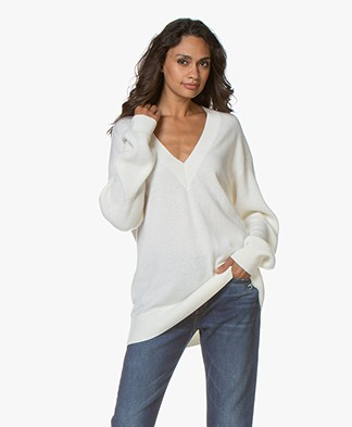 Rag & Bone Logan Cashmere V-Neck Sweater - Ivory