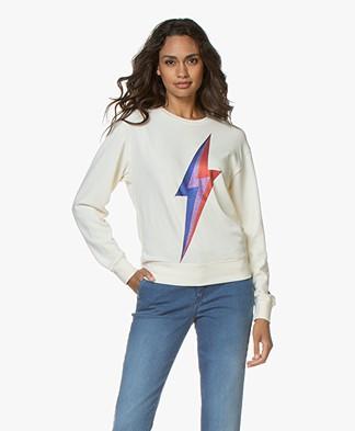 MKT Studio Sorock Print Sweater - Craie