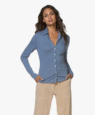 Belluna Marlo Cotton Blend Jersey Blouse - Jeans
