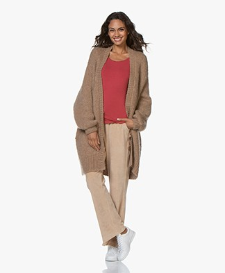 by-bar Mirjam Oversized Open Cardigan - Camel